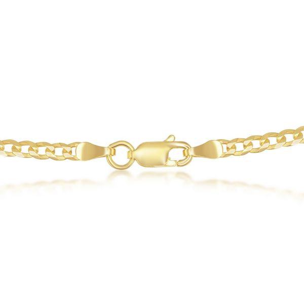Sterling Silver 3mm Cuban Chain - Gold Plated Image 2 Robert Irwin Jewelers Memphis, TN