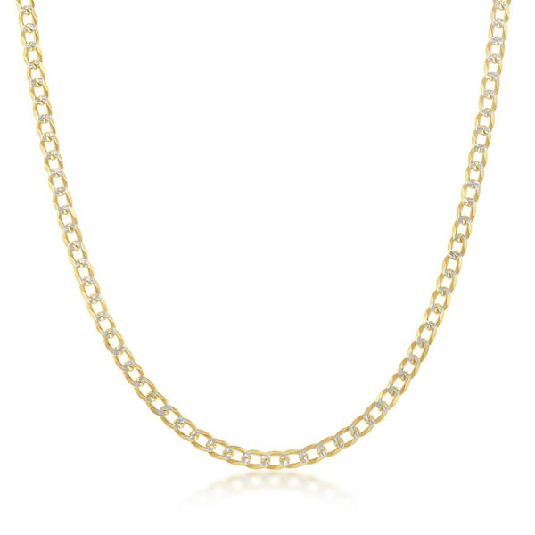 Sterling Silver 3mm Pave Cuban Chain - Gold Plated Robert Irwin Jewelers Memphis, TN