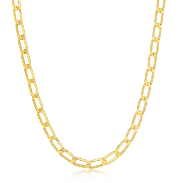 Sterling Silver 4.3MM Flat Paperclip Chain - Gold Plated Robert Irwin Jewelers Memphis, TN