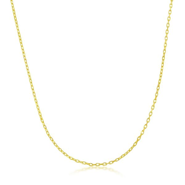Sterling Silver 0.80mm Cable Chain - Gold Plated Robert Irwin Jewelers Memphis, TN