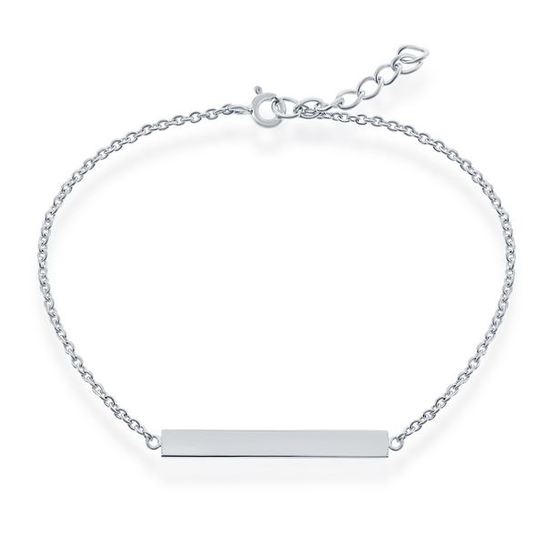 Sterling Silver Bar ID Bracelet Robert Irwin Jewelers Memphis, TN