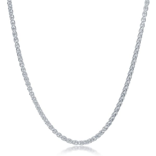 Sterling Silver Spiga Chain - Rhodium Plated Robert Irwin Jewelers Memphis, TN
