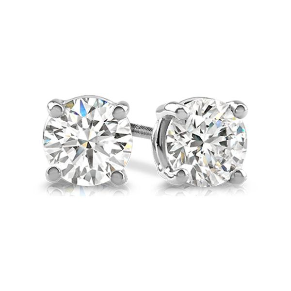 14K White Gold 1/5 Ct.Tw. Premium Diamond Stud Earrings Robert Irwin Jewelers Memphis, TN