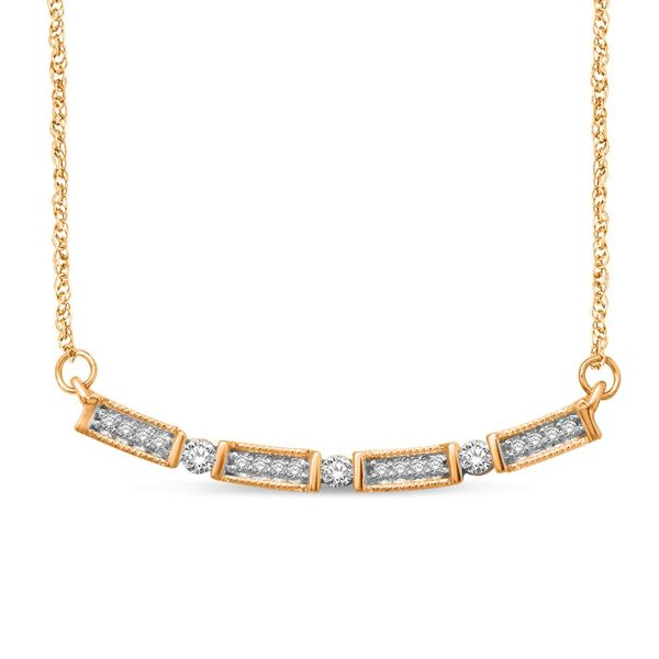 14K Yellow Gold 1/6 Ct.Tw. Diamond Stackable Necklace Robert Irwin Jewelers Memphis, TN
