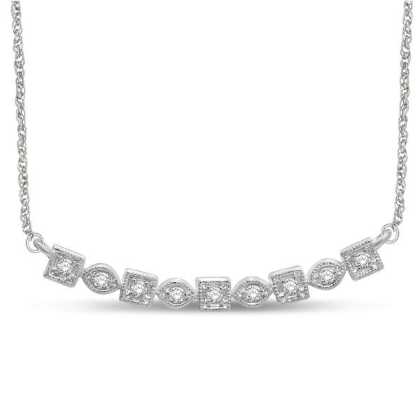 14K White Gold 1/6 Ct.Tw. Diamond Stackable Necklace Robert Irwin Jewelers Memphis, TN