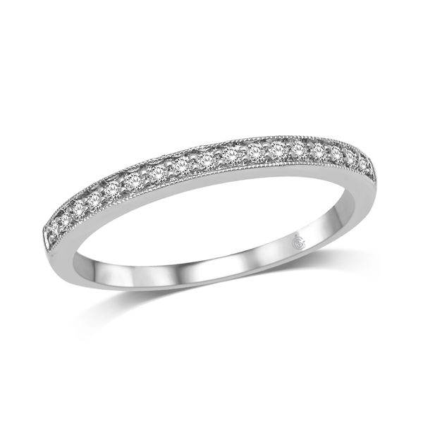 14K White Gold 1/8 Ct.Tw. Diamond Stackable Band Robert Irwin Jewelers Memphis, TN