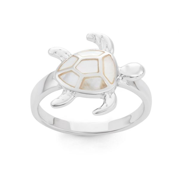Sterling Silver Turtle Ring - White MOP Robert Irwin Jewelers Memphis, TN