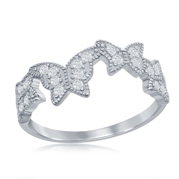Sterling Silver Clear CZ Butterfly Ring Robert Irwin Jewelers Memphis, TN