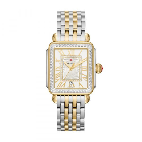 Michele Deco Madison Two Tone Diamond Dial, 18mm Rolland's Jewelers Libertyville, IL