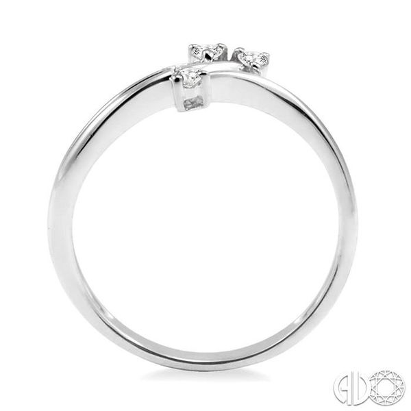 1/10 Ctw Round Cut Diamond Ring in 10K White Gold Image 3 Ross Elliott Jewelers Terre Haute, IN