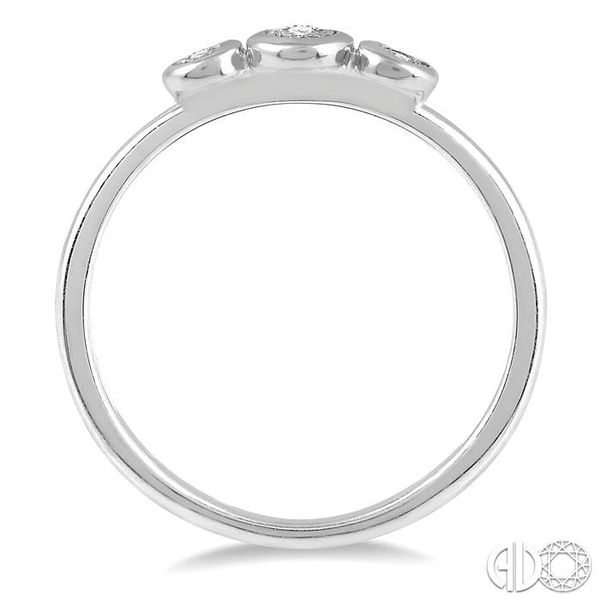 1/20 Ctw Triple Circle Round Cut Diamond Promise Ring in 10K White Gold Image 3 Ross Elliott Jewelers Terre Haute, IN