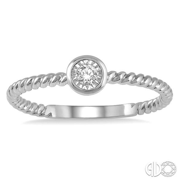 1/50 Ctw Round Cut Diamond Promise Ring in Twirl Cut 10K White Gold Image 2 Ross Elliott Jewelers Terre Haute, IN