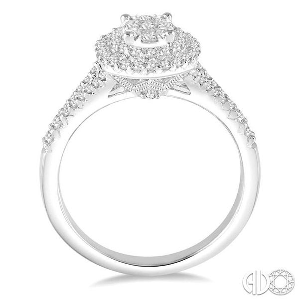 3/4 Ctw Oval Shape Diamond Lovebright Diamond Ring in 14K White Gold Image 3 Ross Elliott Jewelers Terre Haute, IN