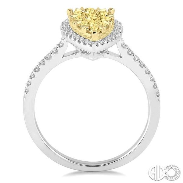 3/4 Ctw Pear Shape Diamond Lovebright Ring in 14K White and Yellow Gold Image 3 Ross Elliott Jewelers Terre Haute, IN