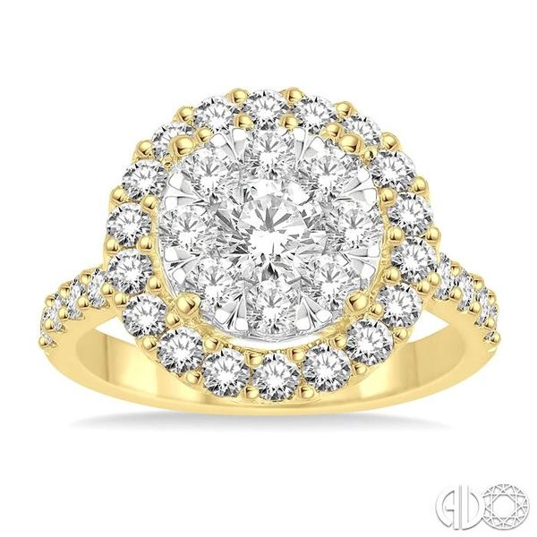 2 Ctw Round Shape Diamond Lovebright Ring in 14K Yellow Gold Image 2 Ross Elliott Jewelers Terre Haute, IN