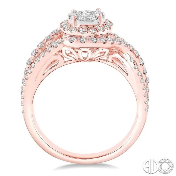 1 1/10 Ctw Round Cut Diamond Lovebright Engagement Ring in 14K Rose and White Gold Image 3 Ross Elliott Jewelers Terre Haute, IN