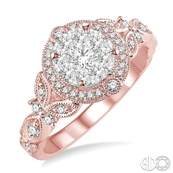 5/8 Ctw Diamond Lovebright Engagement Ring in 14K Rose and White Gold Ross Elliott Jewelers Terre Haute, IN