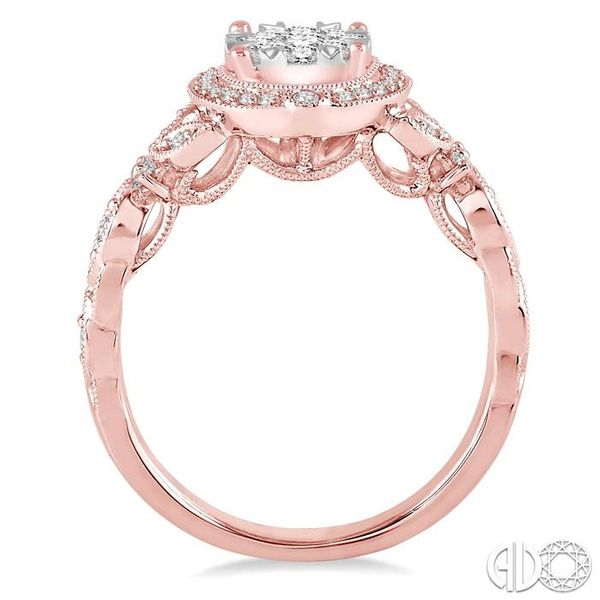 5/8 Ctw Diamond Lovebright Engagement Ring in 14K Rose and White Gold Image 3 Ross Elliott Jewelers Terre Haute, IN