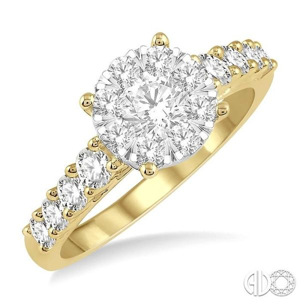 1 1/10 Ctw Round Diamond Lovebright Ring in 14K Yellow and White Gold Ross Elliott Jewelers Terre Haute, IN