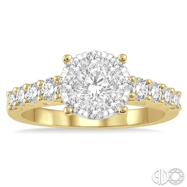 1 1/10 Ctw Round Diamond Lovebright Ring in 14K Yellow and White Gold Image 2 Ross Elliott Jewelers Terre Haute, IN