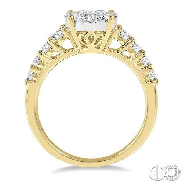 1 1/10 Ctw Round Diamond Lovebright Ring in 14K Yellow and White Gold Image 3 Ross Elliott Jewelers Terre Haute, IN