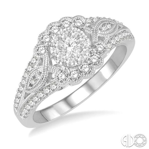 3/4 Ctw Diamond Lovebright Engagement Ring in 14K White Gold Ross Elliott Jewelers Terre Haute, IN