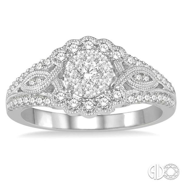 3/4 Ctw Diamond Lovebright Engagement Ring in 14K White Gold Image 2 Ross Elliott Jewelers Terre Haute, IN