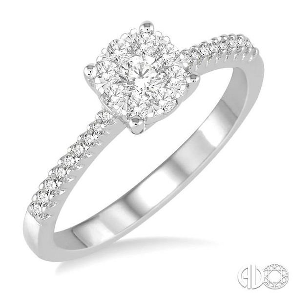 3/8 Ctw Round Shape Diamond Lovebright Ring in 14K White Gold Ross Elliott Jewelers Terre Haute, IN