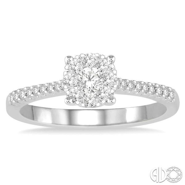 3/8 Ctw Round Shape Diamond Lovebright Ring in 14K White Gold Image 2 Ross Elliott Jewelers Terre Haute, IN