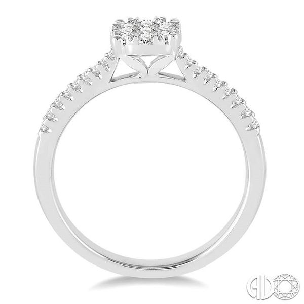 3/8 Ctw Round Shape Diamond Lovebright Ring in 14K White Gold Image 3 Ross Elliott Jewelers Terre Haute, IN