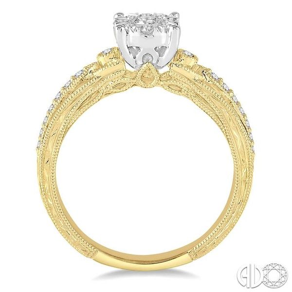 3/8 Ctw Round Cut Diamond Lovebright Engagement Ring in 14K Yellow and White Gold Image 3 Ross Elliott Jewelers Terre Haute, IN