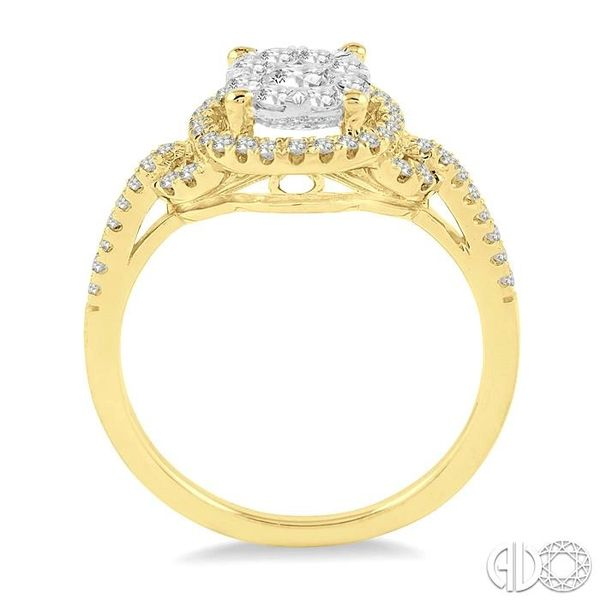 5/8 Ctw Lovebright Round Cut Diamond Engagement Ring in 14K Yellow and White Gold Image 3 Ross Elliott Jewelers Terre Haute, IN