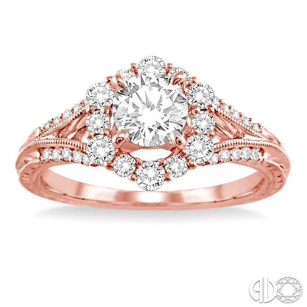 1 Ctw Diamond Engagement Ring with 5/8 Ct Round Cut Center Stone in 14K Rose Gold Image 2 Ross Elliott Jewelers Terre Haute, IN