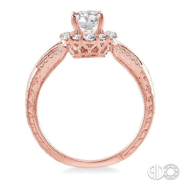 1 Ctw Diamond Engagement Ring with 5/8 Ct Round Cut Center Stone in 14K Rose Gold Image 3 Ross Elliott Jewelers Terre Haute, IN