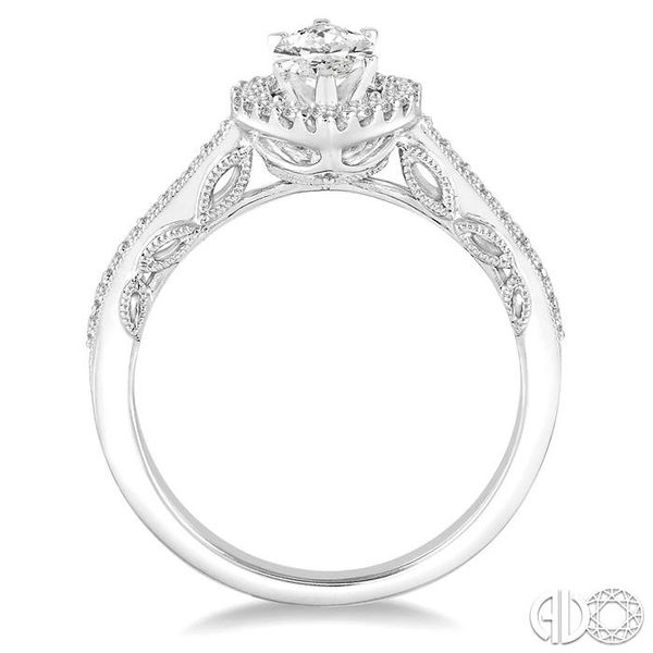 1 Ctw Diamond Engagement Ring with 5/8 Ct Marquise Cut Center Stone in 14K White Gold Image 3 Ross Elliott Jewelers Terre Haute, IN