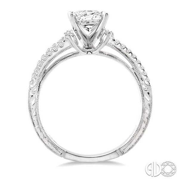 7/8 Ctw Diamond Engagement Ring with 1/2 Ct Princess Cut Center Stone in 14K White Gold Image 3 Ross Elliott Jewelers Terre Haute, IN