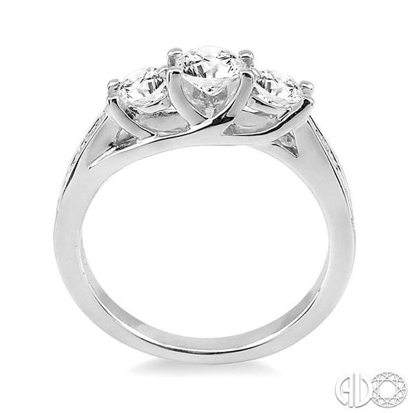 1/2 Ctw Diamond Engagement Ring with 1/4 Ct Round Cut Center Stone in 14K White Gold Image 3 Ross Elliott Jewelers Terre Haute, IN