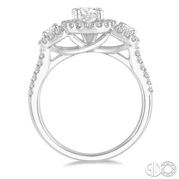 1 1/2 Ctw Triple Oval Shape Diamond Ladies Engagement Ring in 14K White Gold Image 3 Ross Elliott Jewelers Terre Haute, IN