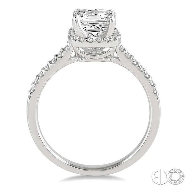 1/2 Ctw Diamond Engagement Ring with 1/4 Ct Princess Cut Center Stone in 14K White Gold Image 3 Ross Elliott Jewelers Terre Haute, IN