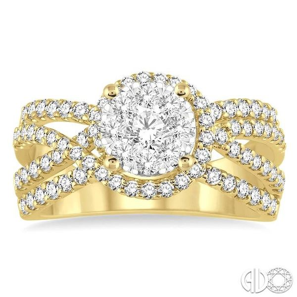 1 Ctw Diamond Lovebright Ring in 14K Yellow and White Gold Image 2 Ross Elliott Jewelers Terre Haute, IN