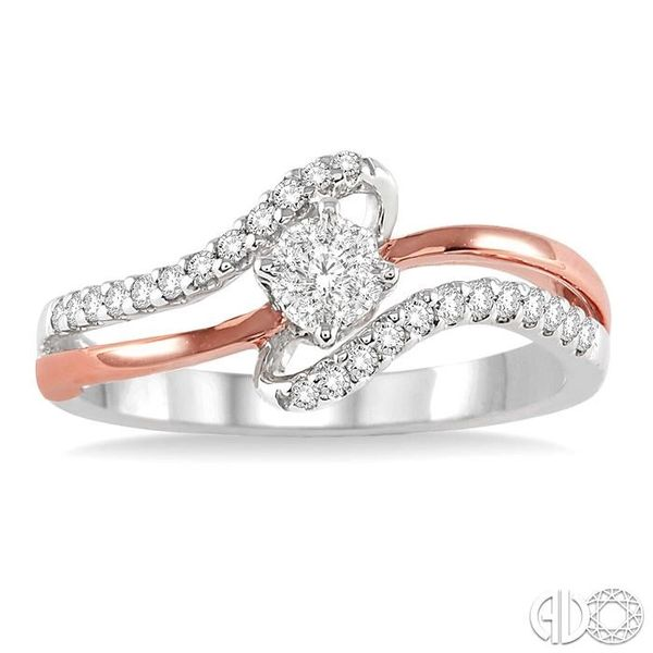1/4 Ctw Lovebright Round Cut Diamond Ring in 10K White and Rose Gold Image 2 Ross Elliott Jewelers Terre Haute, IN