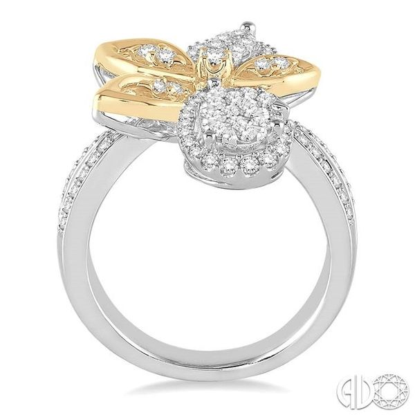 7/8 Ctw Round Cut Diamond Lovebright Ring in 14K White and Yellow Gold Image 3 Ross Elliott Jewelers Terre Haute, IN
