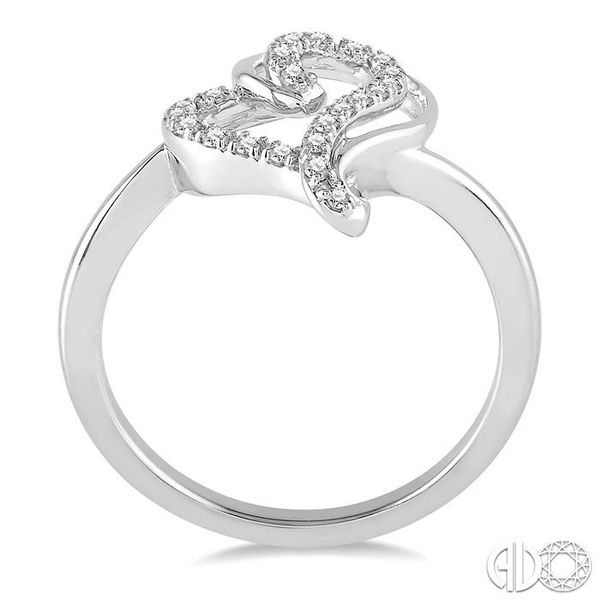 1/6 Ctw Double Heart Charm Round Cut Diamond Ladies Ring in 10K White Gold Image 3 Ross Elliott Jewelers Terre Haute, IN