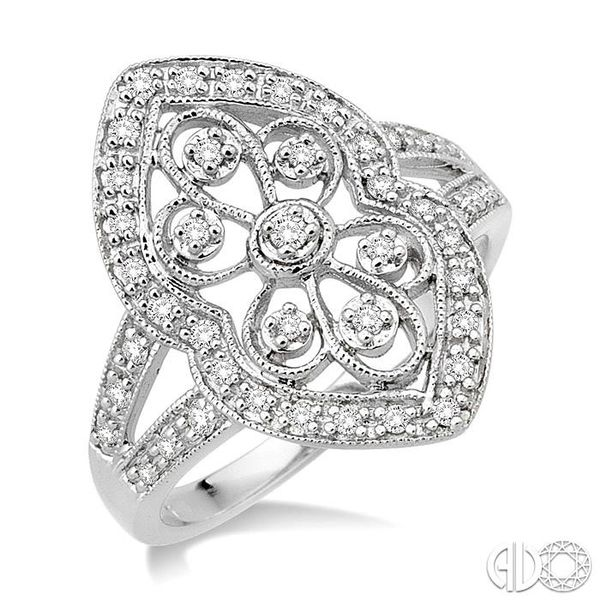 1/4 Ctw Round Cut Diamond Fashion Ring in 10K White Gold Ross Elliott Jewelers Terre Haute, IN