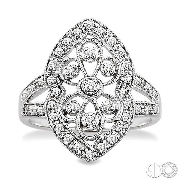 1/4 Ctw Round Cut Diamond Fashion Ring in 10K White Gold Image 2 Ross Elliott Jewelers Terre Haute, IN