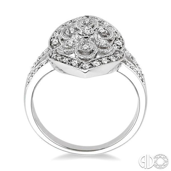 1/4 Ctw Round Cut Diamond Fashion Ring in 10K White Gold Image 3 Ross Elliott Jewelers Terre Haute, IN