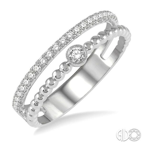 1/4 ctw Open Ball Link & Round Cut Diamond Fashion Ring in 14K White Gold Ross Elliott Jewelers Terre Haute, IN