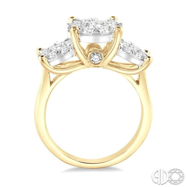 1 1/2 Ctw Lovebright Round Cut Diamond Ring in 14K Yellow and White Gold Image 3 Ross Elliott Jewelers Terre Haute, IN