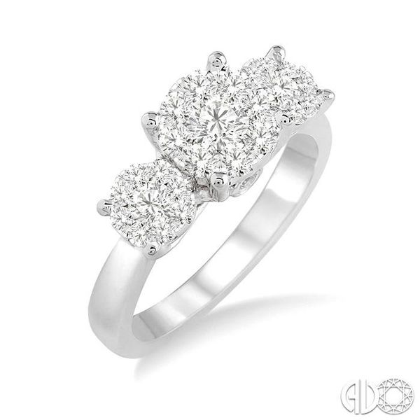 3/4 Ctw Lovebright Round Cut Diamond Ring in 14K White Gold Ross Elliott Jewelers Terre Haute, IN