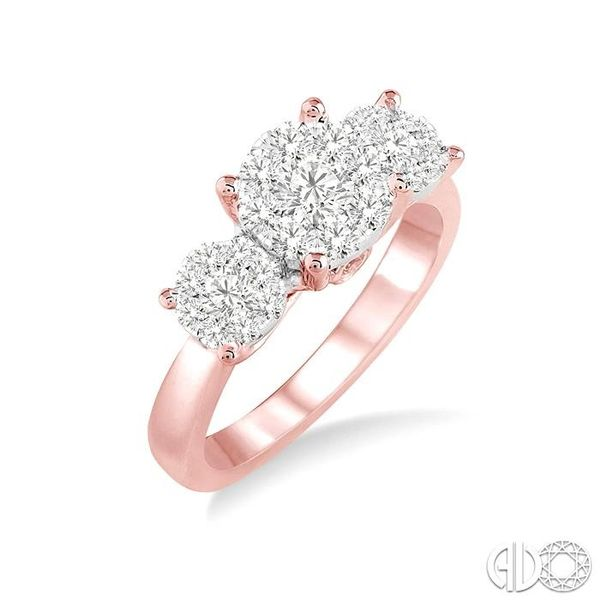 1/2 Ctw Lovebright Round Cut Diamond Ring in 14K Rose and White Gold Ross Elliott Jewelers Terre Haute, IN